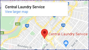 central Laundry location map