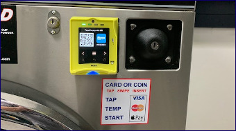 card or coin op washing machines