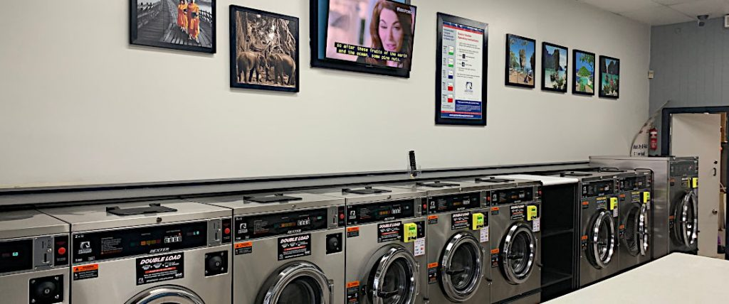 Brisbane Laundry coin op or card facility